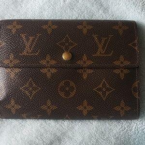 ♦️Fun L. Vuitton Porte Tressor Etui Papiers Clutch